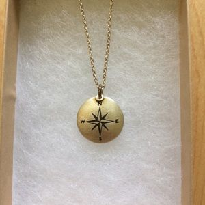 Jewelry - Handmade Sterling Silver Compass Rose Necklace